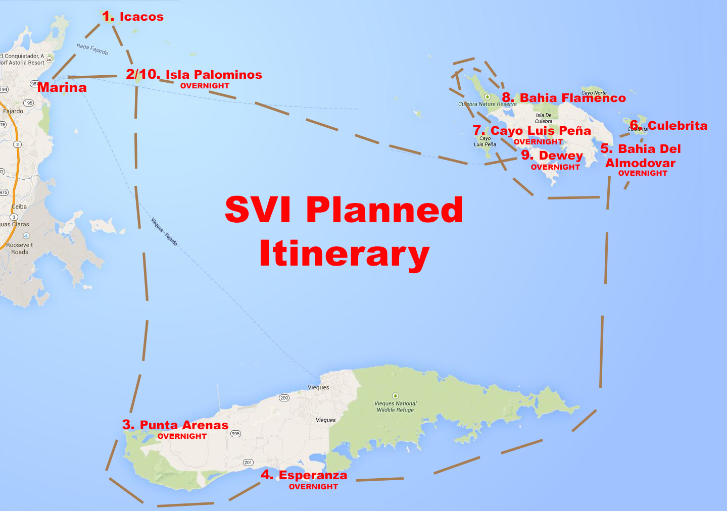 Planning the Spanish Virgin Islands