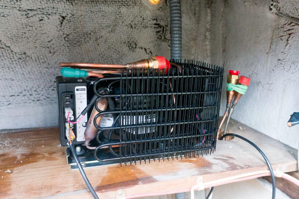 Converting an icebox into a refrigerator   svgimmeshelter