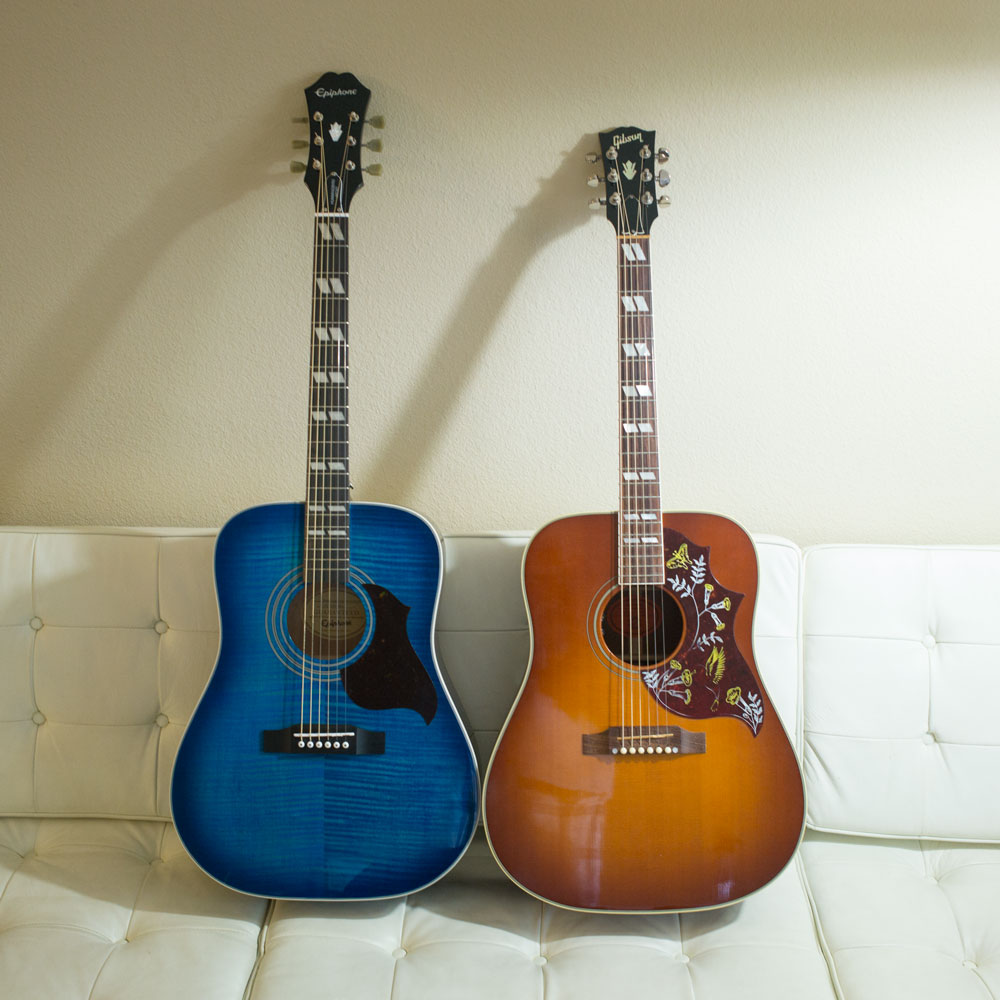 guitar comparison gibson hummingbird versus epiphone hummingbird artist svgimmeshelter. Black Bedroom Furniture Sets. Home Design Ideas